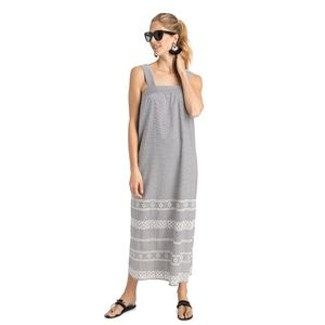 NWOT VINEYARD VINES Embroidered Striped Maxi Dress